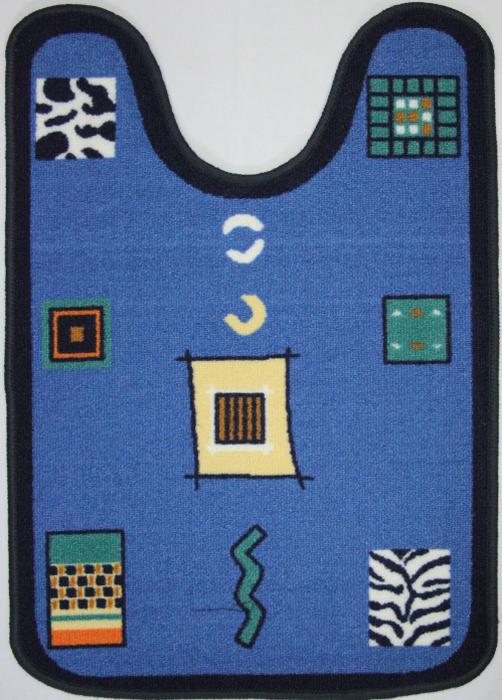 "Коврик для ванной MAC Carpet ""Розетта"", цвет: синий, 57 х 80 см"