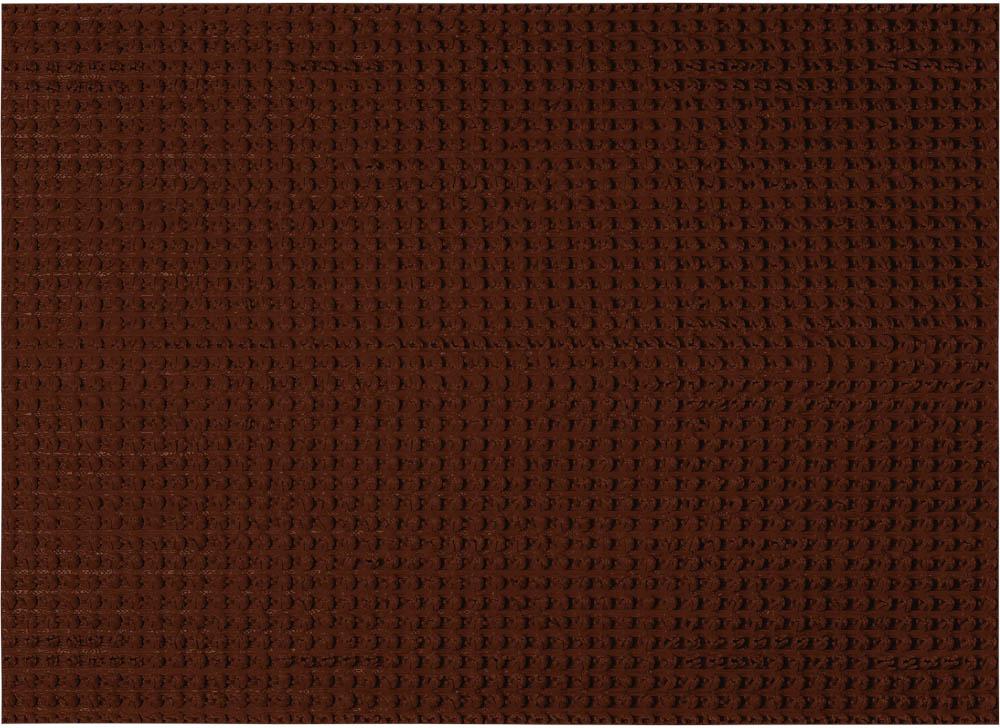 Коврик придверный Vortex Травка, противоскользящий, цвет: темно-коричневый, 45 х 60 см коврик vortex травка темно коричневый 60х90см на противоскользящей основе