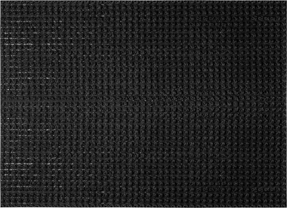 Коврик придверный Vortex Травка, противоскользящий, цвет: черный, 45 х 60 см коврик vortex травка темно коричневый 60х90см на противоскользящей основе