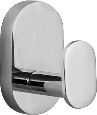 Крючок настенный Iddis Mirro Plus, цвет: хром ерш для унитаза iddis mirro plus подвесной цвет хром