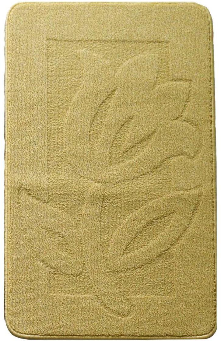 """Коврик для ванной """"Kamalak Tekstil"""", цвет: желтый, 60 x 100 см"""