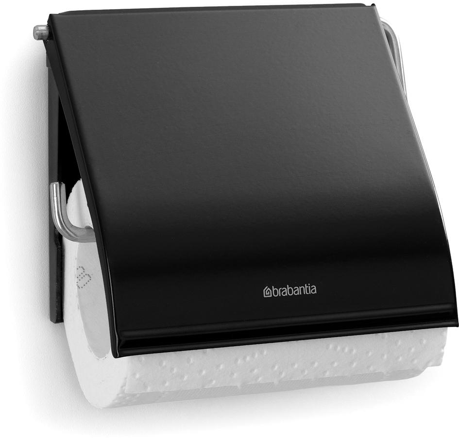 """Держатель для туалетной бумаги Brabantia """"Classic"""", цвет: черный. 108600"""