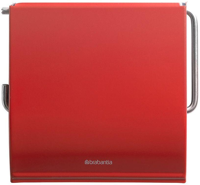 """Держатель для туалетной бумаги Brabantia """"Classic"""", цвет: красный. 107863"""