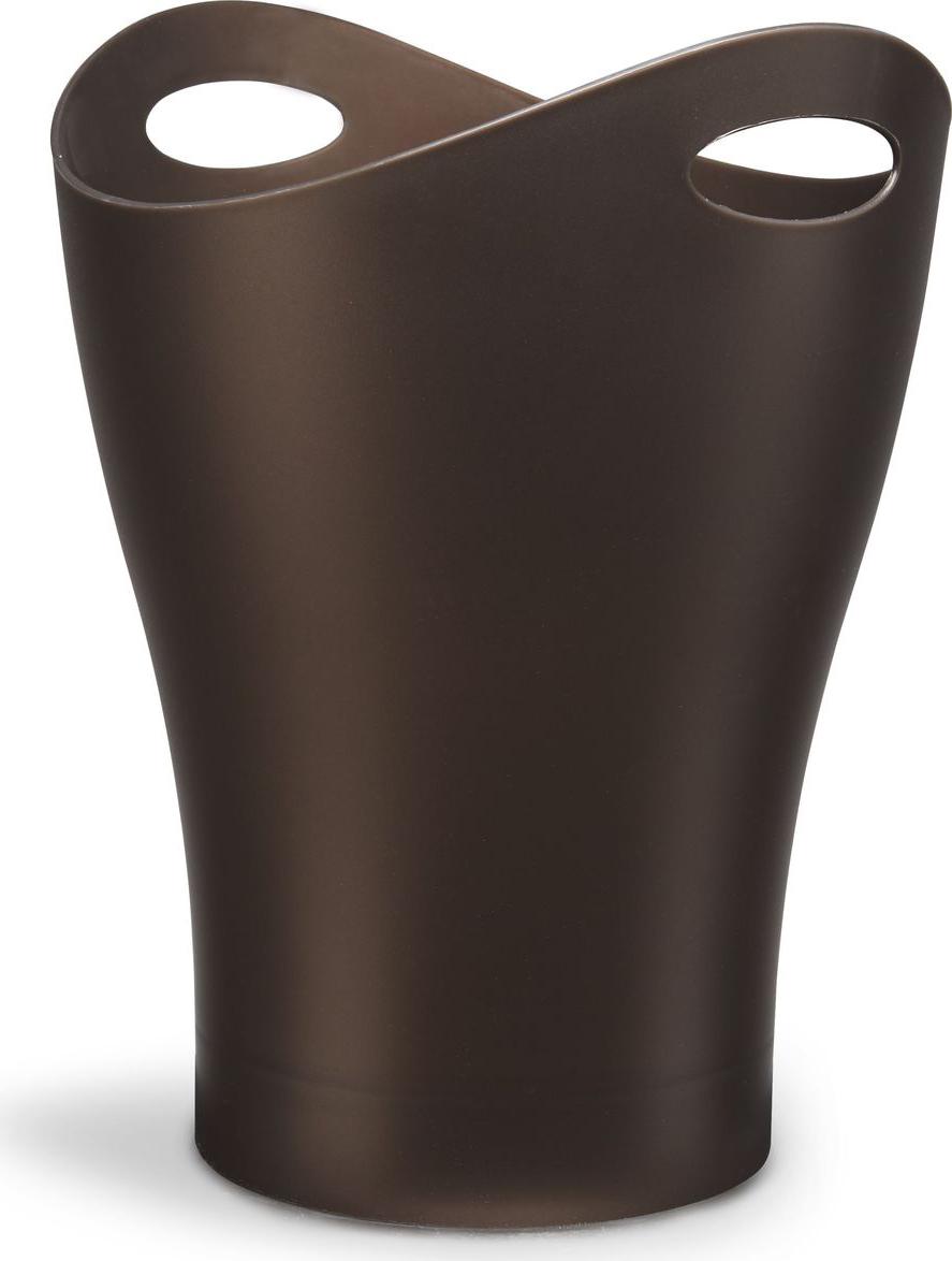 Контейнер мусорный Umbra Garbino, цвет: бронза, 33 х 25 х 25 см корзина для мусора umbra woodrow 7 5 л эспрессо
