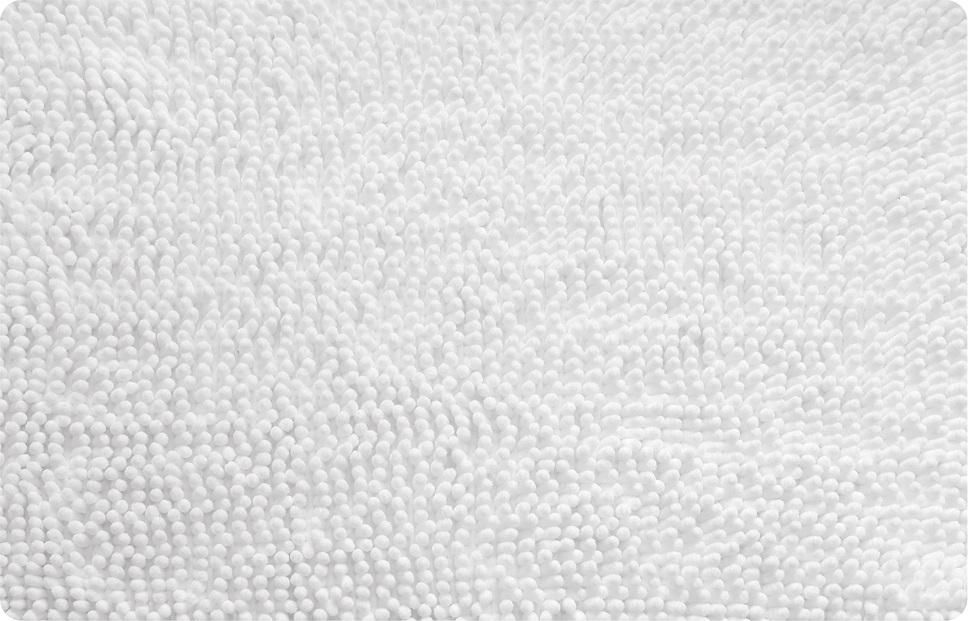 Коврик для ванной Iddis White leaf, цвет: белый, 50 х 80 см