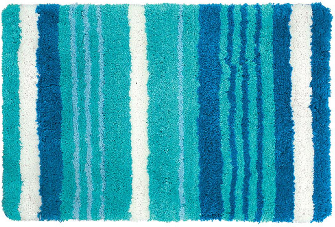 "Коврик для ванной Iddis ""Blue Horizon"", цвет: синий, 60 х 90 см"