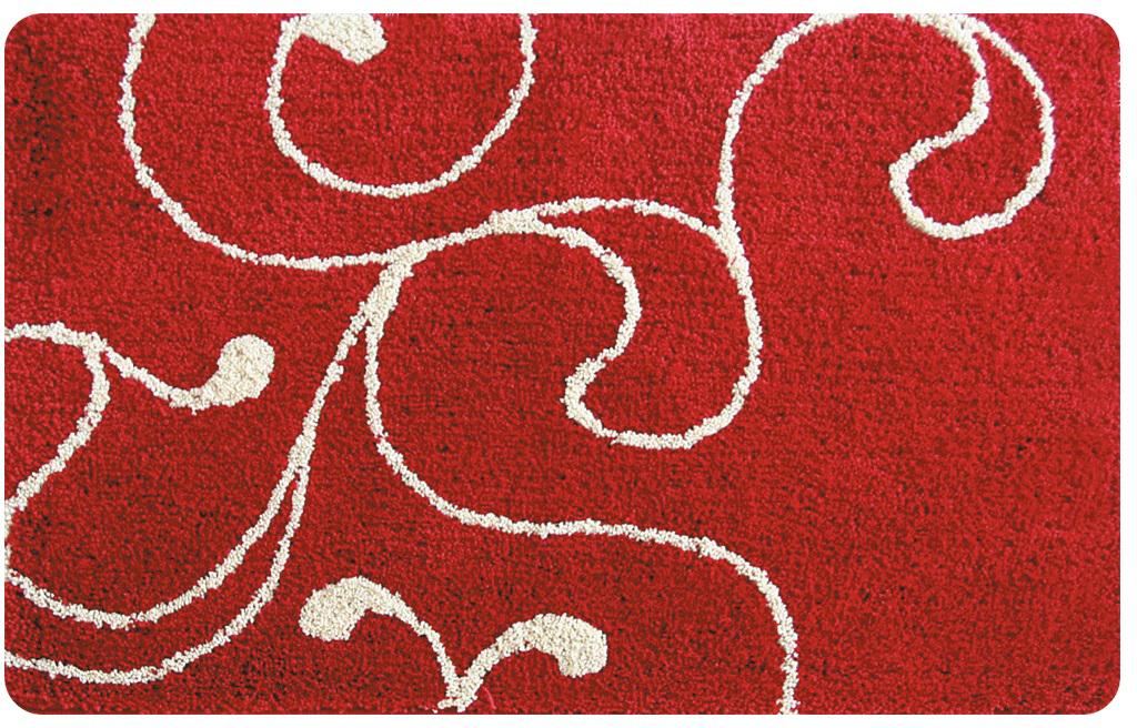 """Коврик для ванной Iddis """"Flower Lace Red"""", цвет: красный, 60 х 90 см"""