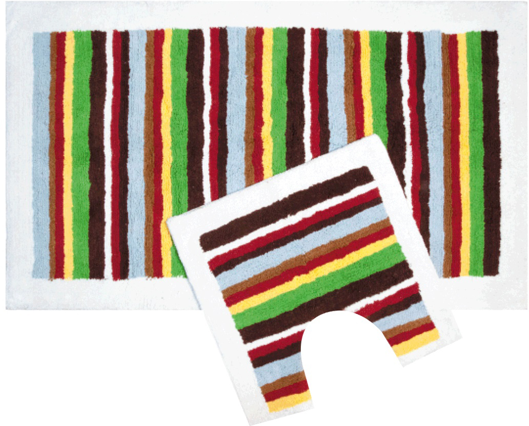 """Набор ковриков для ванной Iddis """"Palette"""", цвет: коричнево-красный, 70 х 120 см, 50 х 50 см, 2 шт"""