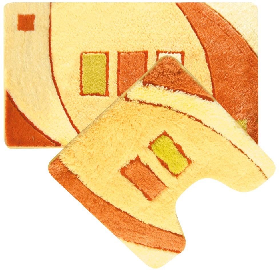Набор ковриков для ванной Iddis Gold Sands, цвет: бежевый, 50 х 80 см, 50 х 50 см, 2 шт