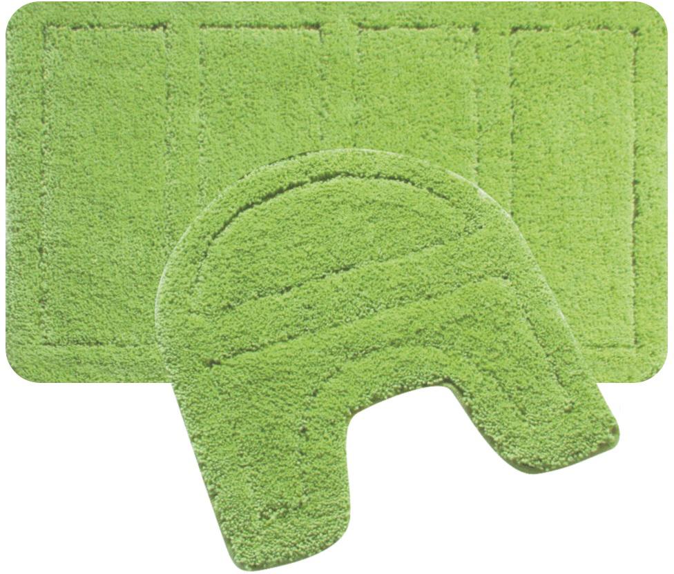 Набор ковриков для ванной Iddis Green Landscape, цвет: зеленый, 60 х 90 см, 50 х 50 см, 2 шт240M590i13Набор ковриков для ванной комнаты и туалета Iddis выполнен из 100% полиэстера. Коврики имеют специальную латексную основу, благодаря которой они не скользят на напольных покрытия в ванной, что обеспечивает безопасность во время использования. Коврики изготавливаются по специальным технологиям машинного ручного тафтинга, что гарантирует высокое качество и долговечность. Высота ворса: 2,5 см.