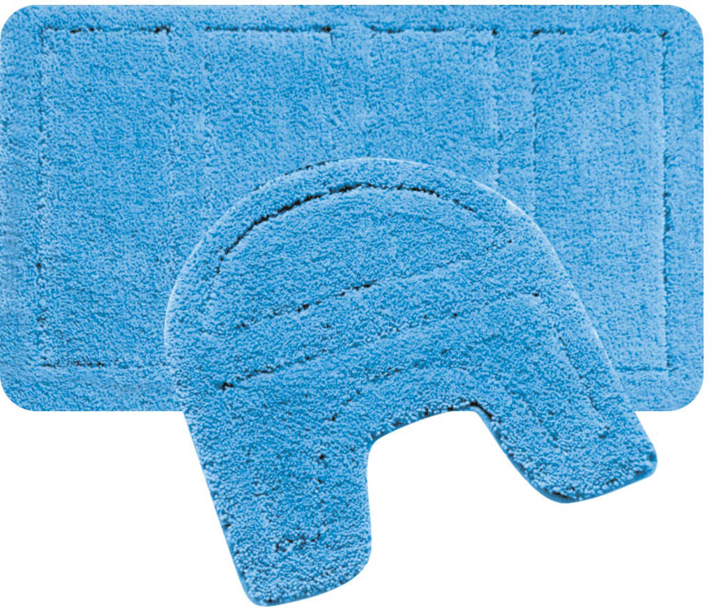 "Набор ковриков для ванной Iddis ""Blue Landscape"", цвет: синий, 60 х 90 см, 50 х 50 см, 2 шт"
