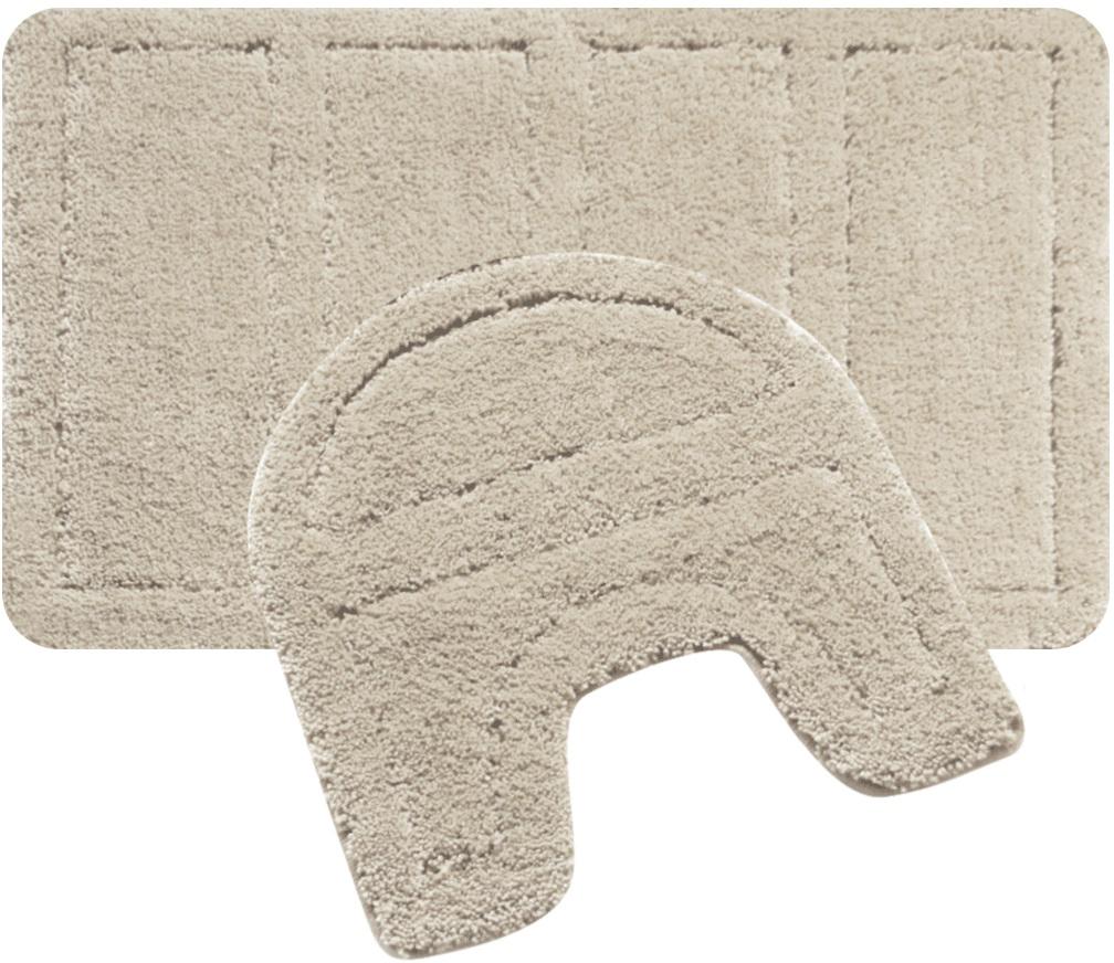 """Набор ковриков для ванной Iddis """"Beige Landscape"""", цвет: бежевый, 60 х 90 см, 50 х 50 см, 2 шт"""