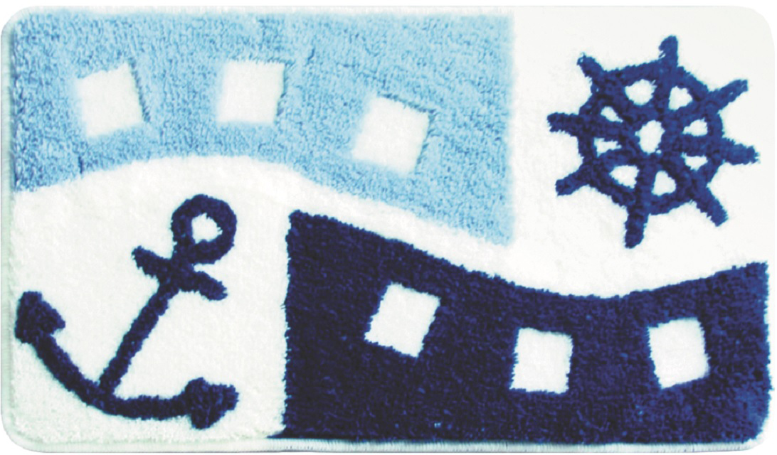 Коврик для ванной Milardo Sea Holiday, цвет: голубой, 40 х 70 см мыльница решетка компонент для штанги fbs universal uni 053