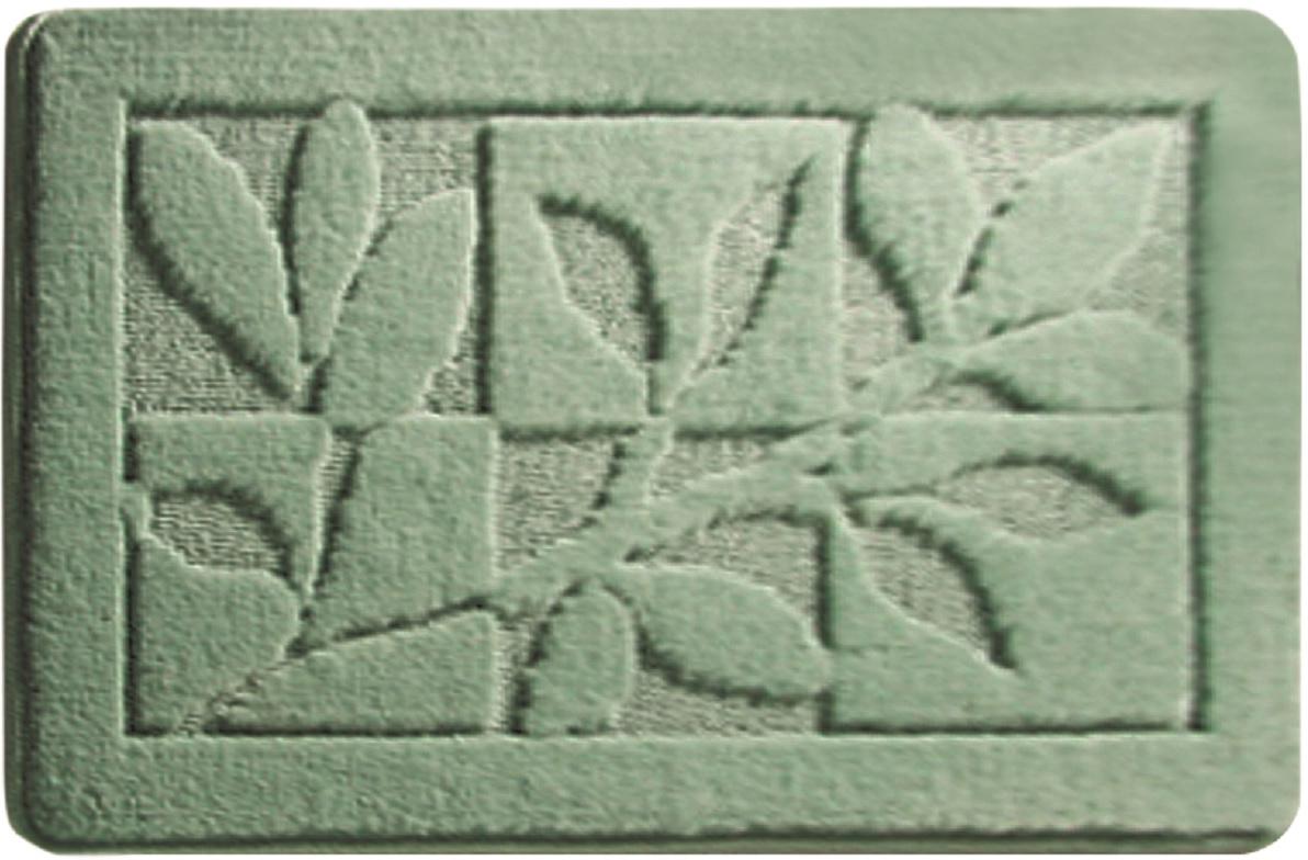Коврик для ванной Milardo Green Forest, цвет: зеленый, 40 х 70 см колорит клеенка подкладная с окантовкой цвет белый зеленый 50 х 70 см