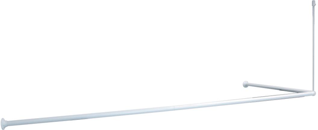 Карниз для ванной Iddis, угловой, цвет: белый, 90 х 90 х 90 (90 х 180) см телевизор 90 х