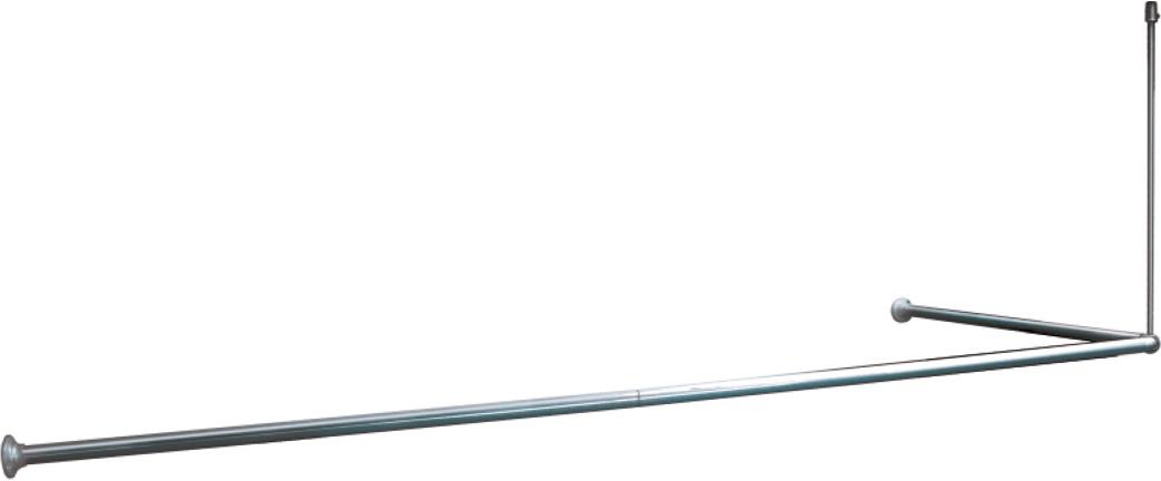 Карниз для ванной Iddis, угловой, цвет: глянцевый хром, 90 х 90 х 90 (90 х 180) см карниз универсальный euroshowers 90 х 90 х 90 см цвет хром