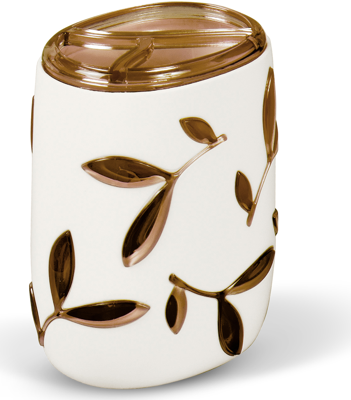 Стакан для зубных щеток Tatkraft Immanuel Olive, цвет: серый, коричневый стакан для зубных щеток tatkraft immanuel olive цвет серый коричневый