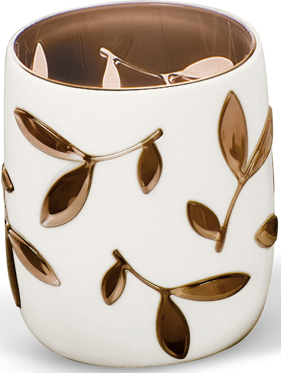 Стакан для ванной комнаты Tatkraft Immanuel Olive, цвет: серый, коричневый стакан для зубных щеток tatkraft immanuel olive цвет серый коричневый