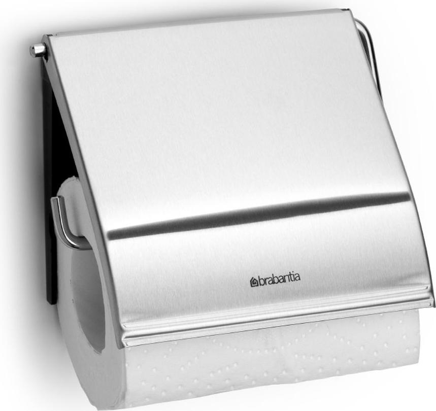 """Держатель для туалетной бумаги Brabantia """"Classic"""", цвет: стальной матовый. 385322"""