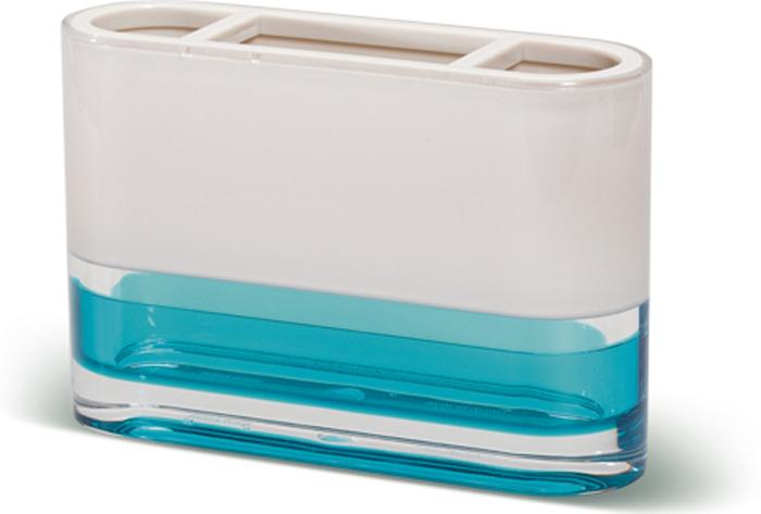Стакан для зубных щеток Tatkraft Topaz Blue стакан для зубных щеток tatkraft immanuel olive цвет серый коричневый