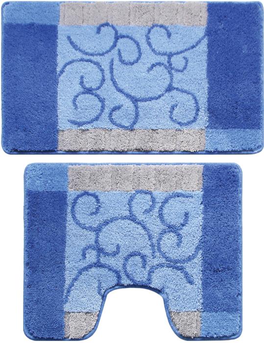 """Набор ковриков для ванной комнаты Milardo """"Fine Lace"""", 2 шт"""