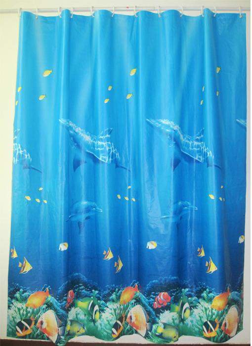 "Штора для ванной комнаты Milardo ""Ocean Floor"", 180 см х 180 см. 520V180M11"