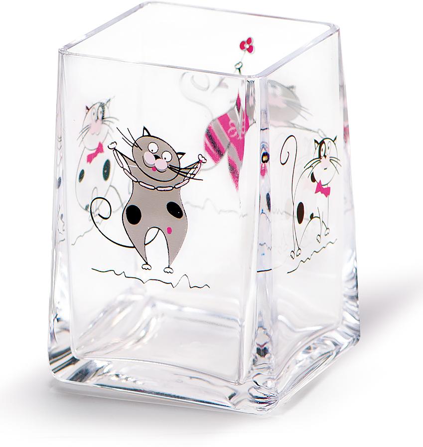 Стакан для ванной комнаты Tatkraft Funny Cats шторы и карнизы для ванной fototende фотошторы для ванной cats