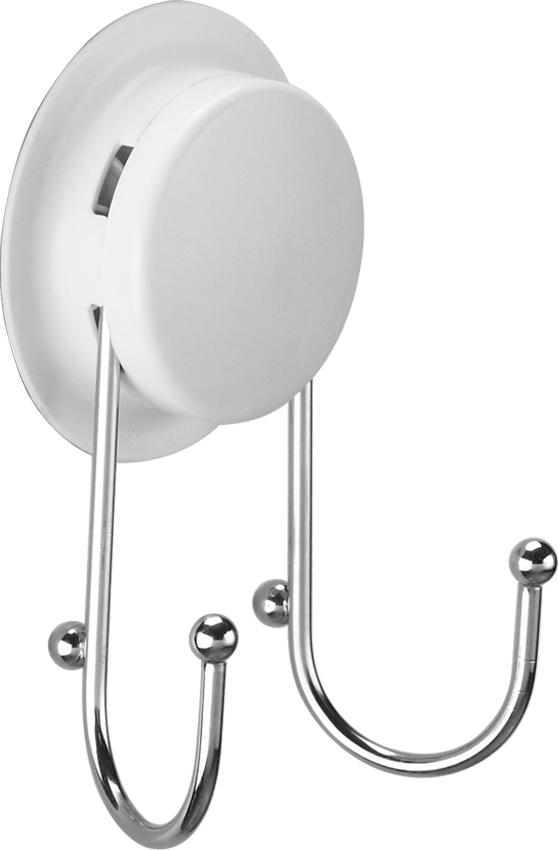 """Крючок двойной """"GarBath"""", на вакуумной системе крепления, диаметр 7 см"""