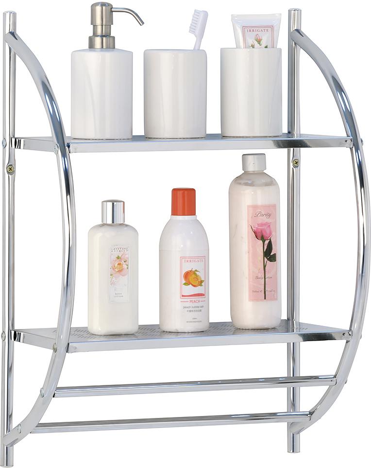 Полка для ванной Tatkraft Kronoberg, 2-х ярусная, 39 х 22 х 54,5 см вешалка самоклеящаяся tatkraft emma для полотенец 5 х 7 5 х 2 см