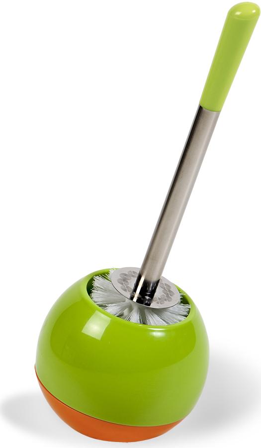 """Гарнитур для туалета Tatkraft """"Verde"""", цвет: салатовый, оранжевый, 2 предмета"""
