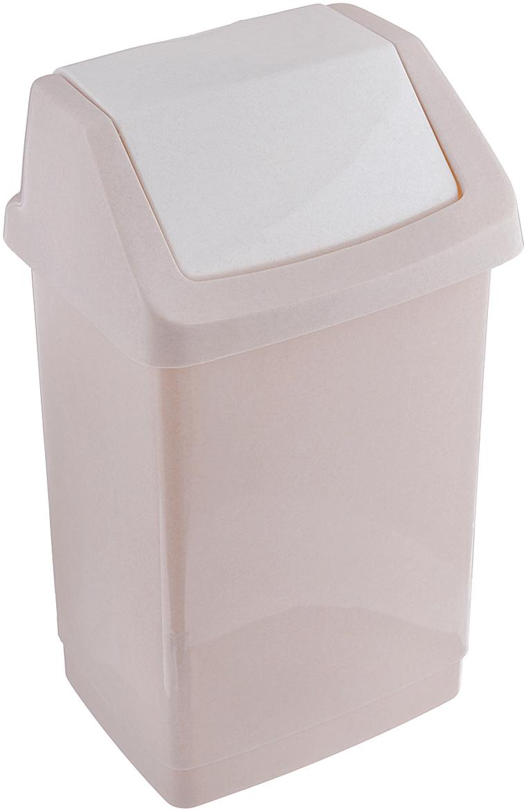 Контейнер для мусора Curver Клик-ит, цвет: бежевый, 9 л контейнер для мусора plastic centre цвет бежевый коричневый 7 л