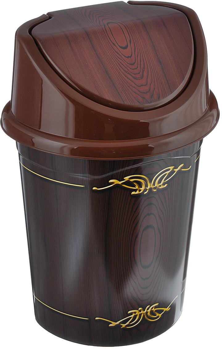 Контейнер для мусора Violet Дерево, цвет: коричневый, желтый, 4 л контейнер для мусора violet дерево цвет коричневый желтый 4 л