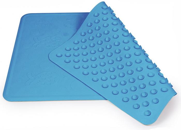 Нескользящий коврик для ванны Canpol Babies, цвет: синий, 34 см х 55 см термометр для ванны canpol дельфин арт 2 782 цвет синий