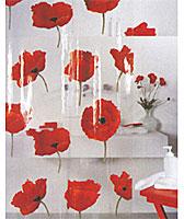 Штора для ванной комнаты Poppy cinnabar, 180 х 200 см