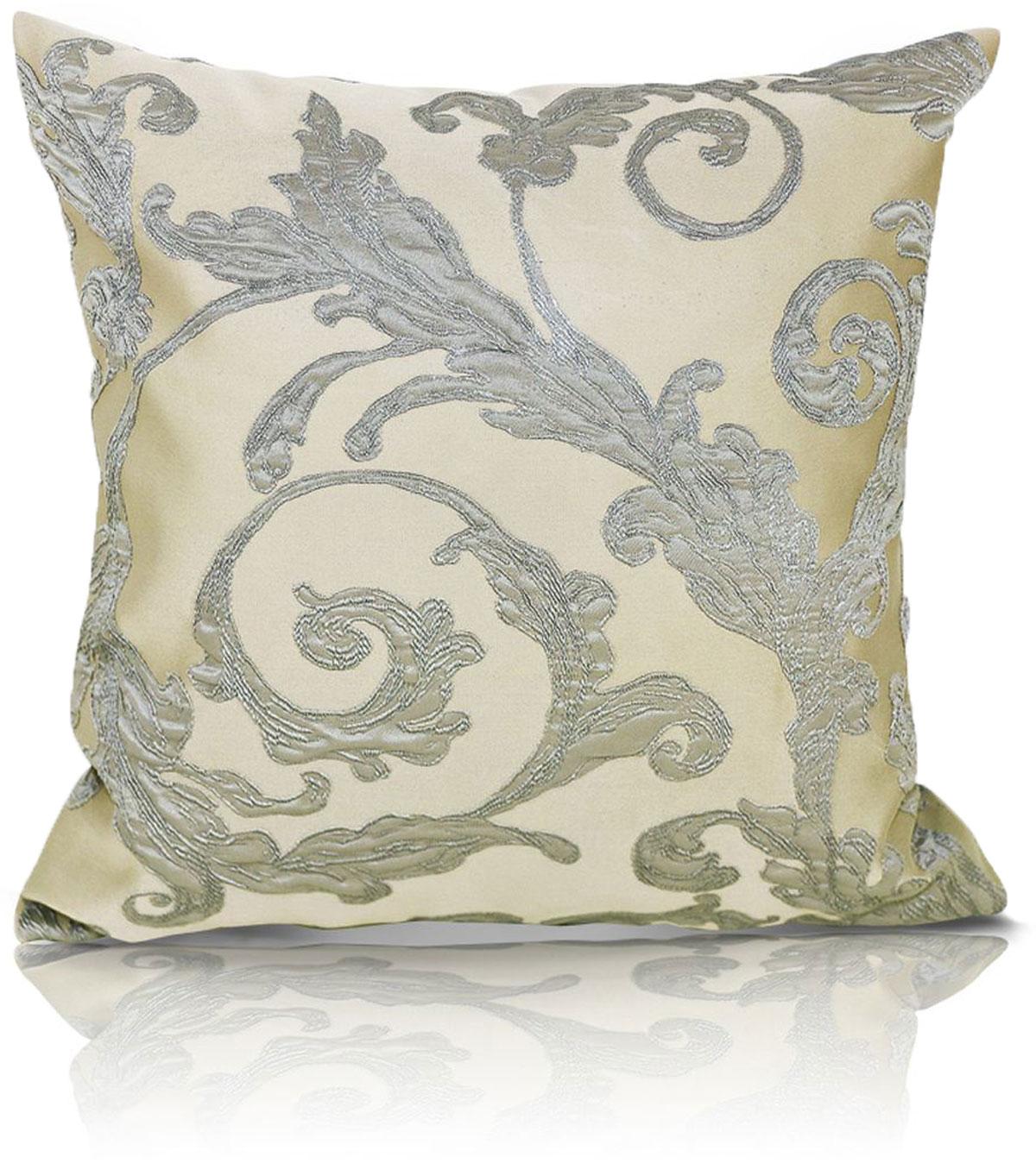 Подушка декоративная KauffOrt Виона, цвет: бежевый, 40 x 40 см подушка декоративная kauffort рапсодия цвет бежевый серый 40 x 40 см