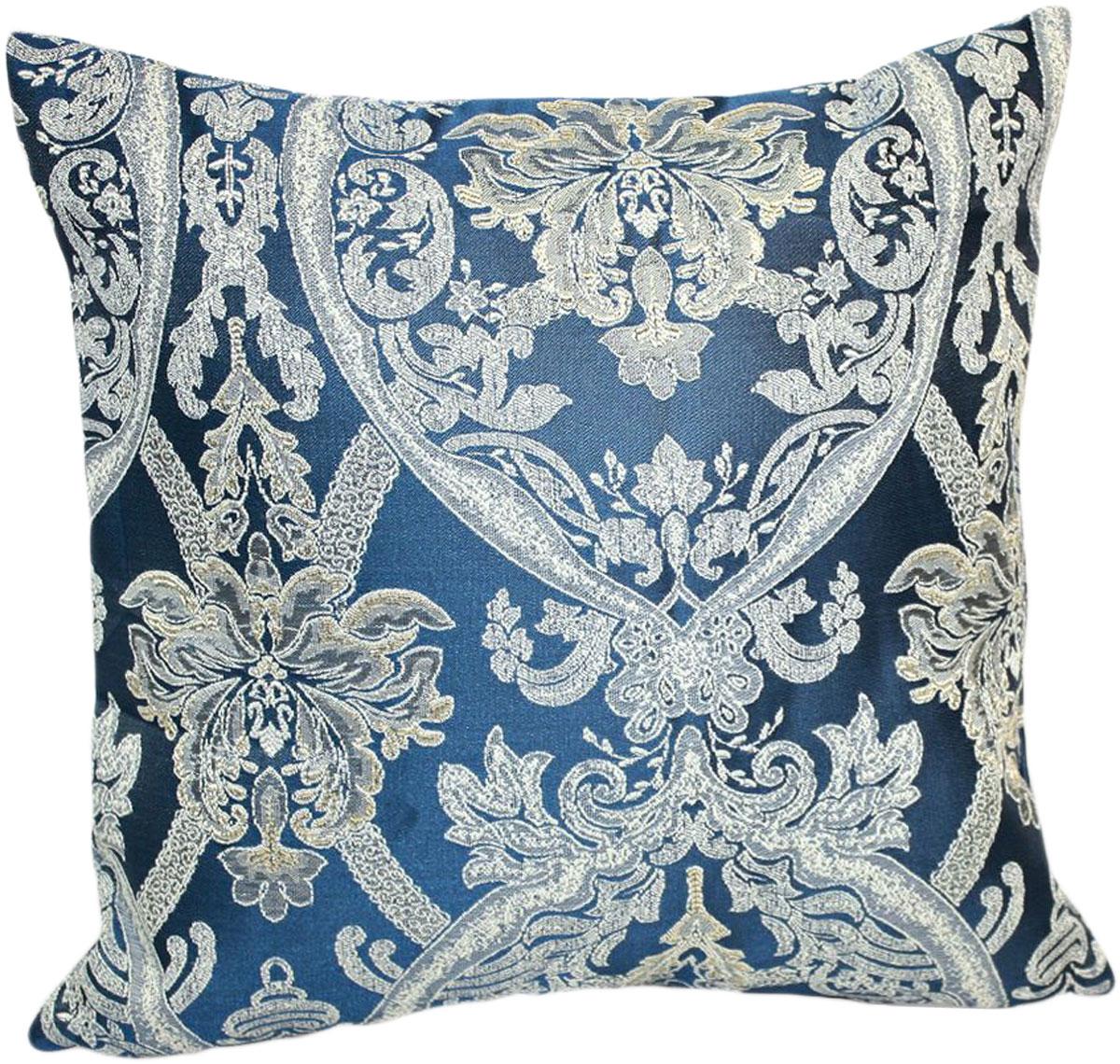 Подушка декоративная KauffOrt Мауритани, цвет: синий, 40 x 40 см подушка декоративная kauffort мауритани цвет бежевый 40 x 40 см