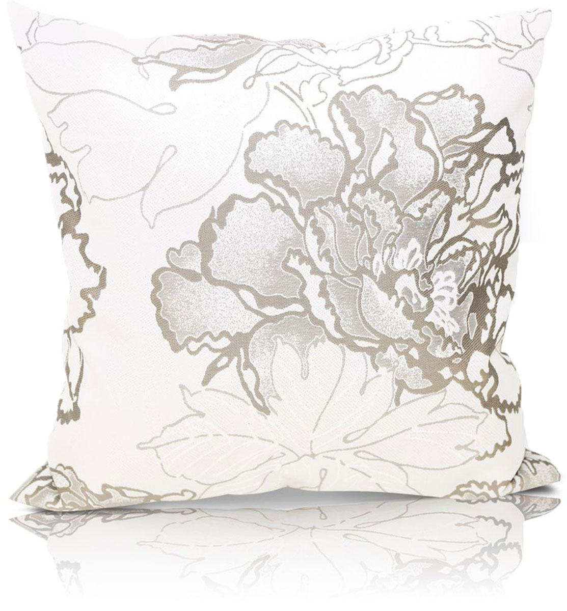 Подушка декоративная KauffOrt Рапсодия, цвет: бежевый, серый, 40 x 40 см подушка декоративная kauffort рапсодия цвет бежевый серый 40 x 40 см