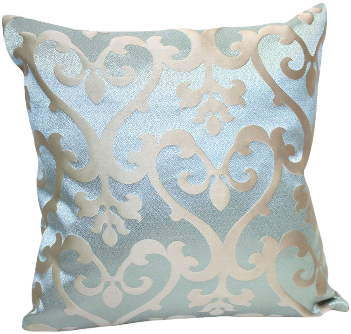 Подушка декоративная KauffOrt Флорентина, цвет: серебристый, голубой, 40 x 40 см. 3121044640 подушка декоративная kauffort рапсодия цвет бежевый серый 40 x 40 см