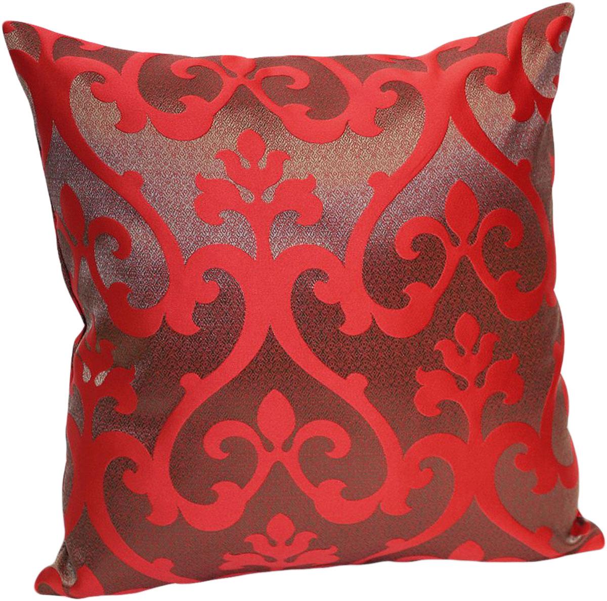 Подушка декоративная KauffOrt Флорентина, цвет: темно-красный, 40 x см