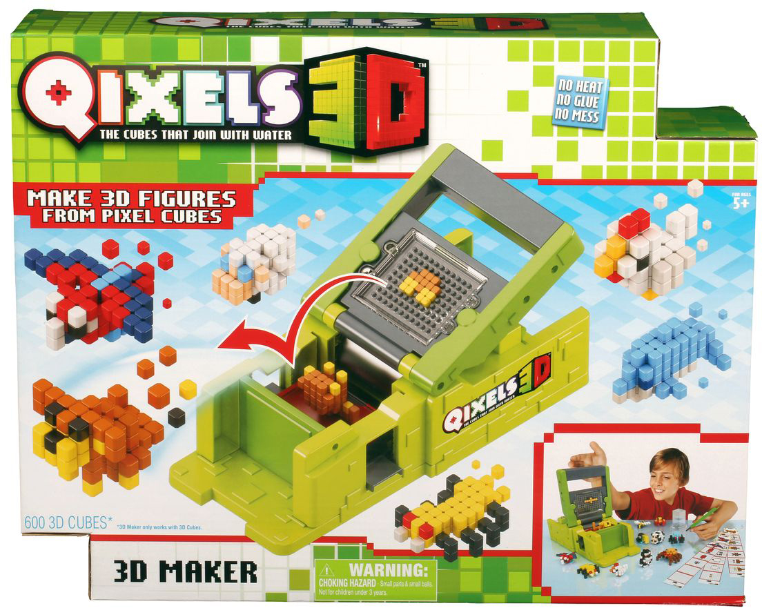 Qixels Машинка для создания 3D фигурок 3D Принтер 3d magic набор для творчества 3d magic 3d spinner для создания объемных фигурок