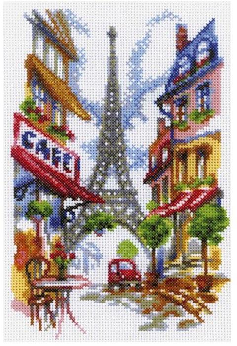 Набор для вышивания крестом RTO Уютный уголок Парижа, 15 х 23 см цена