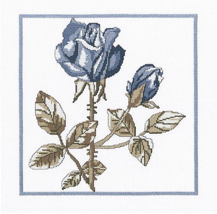 Набор для вышивания крестом RTO Розы Снежной королевы, 23 х 23 см. М458 цена