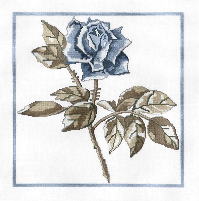Набор для вышивания крестом RTO Розы Снежной королевы, 23 х 23 см. М459 цена