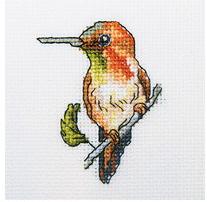 Набор для вышивания крестом RTO Колибри, 10 см х 10 см. H221 набор для вышивания крестом rto женский образ 9 х 11 5 см eh304