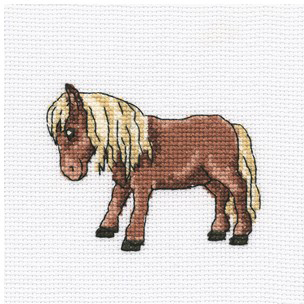 Набор для вышивания крестом RTO Тибетская лошадка, 10 х 10 см набор для вышивания крестом rto котенок с подарком 10 х 10 см