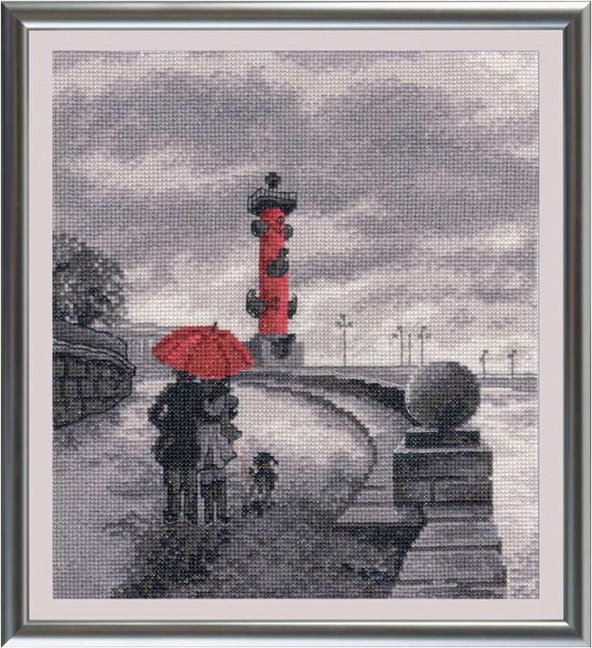 Набор для вышивания крестом Овен Петербургская набережная, 22 х 25 см набор для вышивания крестом овен петербургская набережная 22 х 25 см