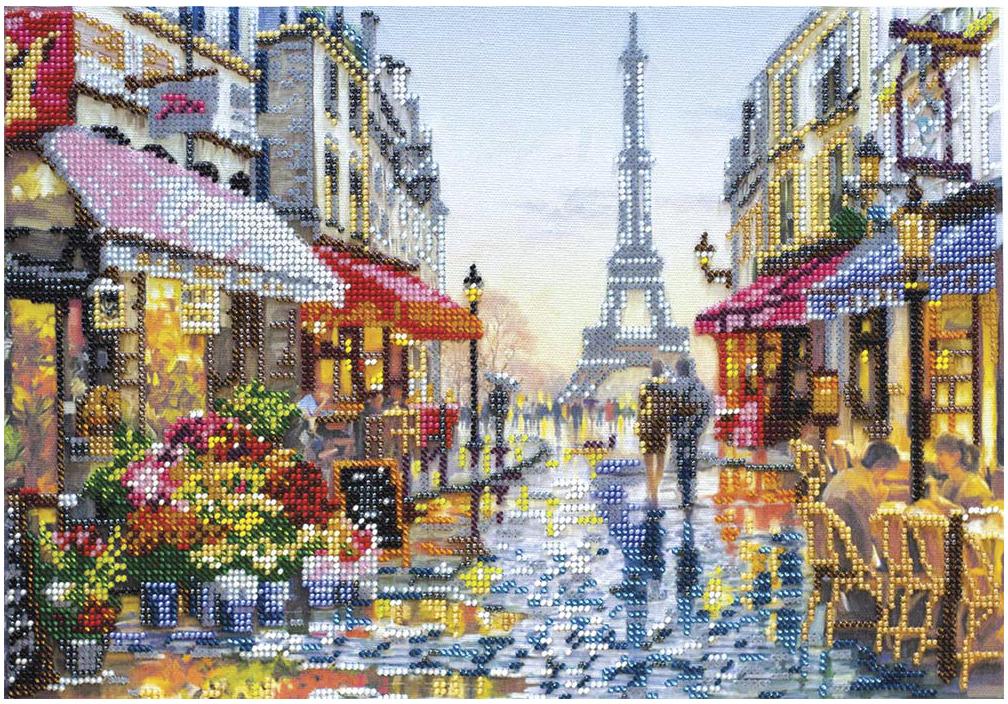 """Набор для вышивания бисером Абрис Арт """"После дождя"""", 35 x 24 см"""