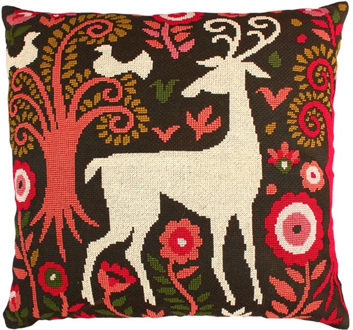 Набор для вышивания подушки РТО Сказочный лес, 40 х 40 см. CU002 набор для вышивания подушки vervaco белая лилия 40 см х 40 см
