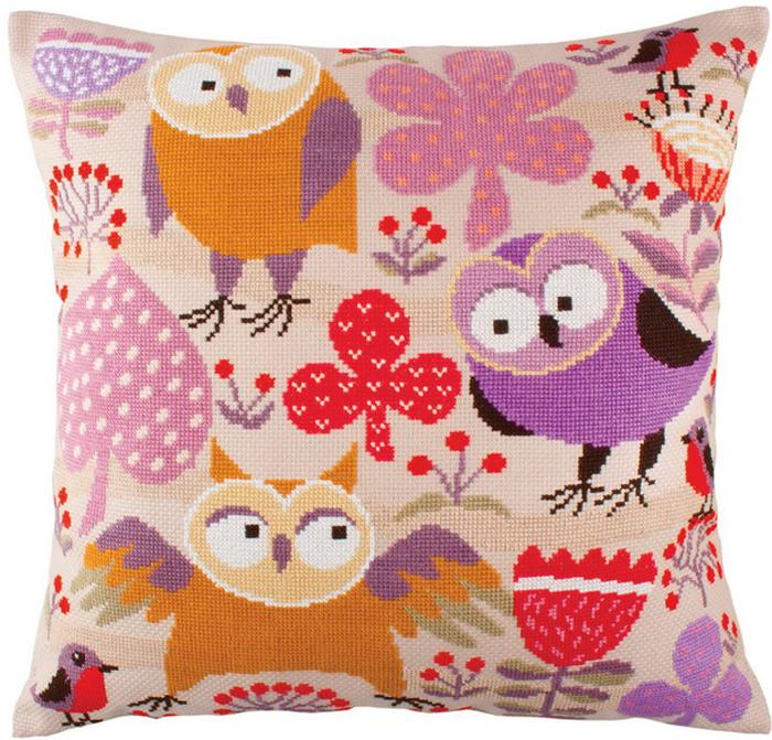 Набор для вышивания подушки РТО Мудрые птицы, 44 х 44 см цена
