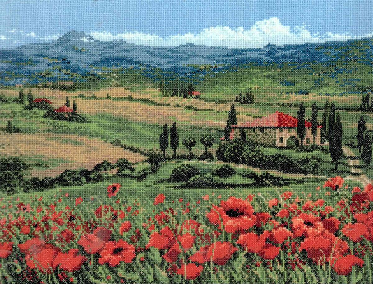 Набор для вышивания крестом Риолис Тоскана, 30 х 40 см набор для вышивания крестом риолис лесная хозяйка 40 х 30 см